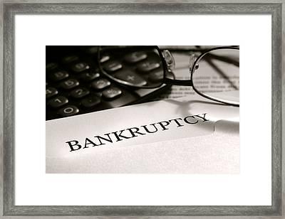 Bankruptcy Notice Letter Framed Print by Olivier Le Queinec