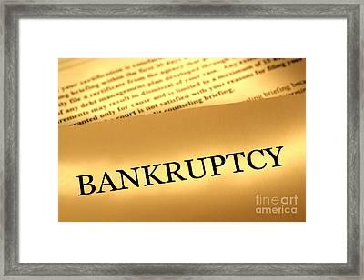 Bankruptcy Notice Framed Print by Olivier Le Queinec