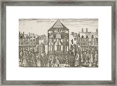 Bankruptcy Punishment, 16th Century Framed Print by Mid-manhattan Library