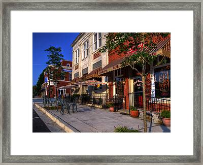 Banks Real Estate And Coffee Framed Print