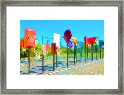 Bankshot Basketball 1 Framed Print by Lanjee Chee