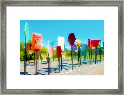 Bankshot Basketball 2 Framed Print by Lanjee Chee