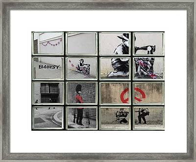 Banksy Street Art Framed Print