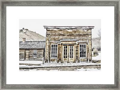 Bannack Assay Office Framed Print by Fran Riley