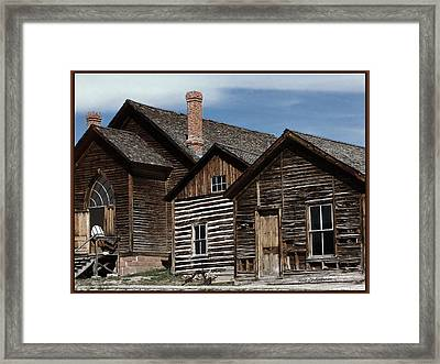 Bannack Buildings Framed Print by Kae Cheatham