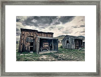Bannack Carriage House Framed Print