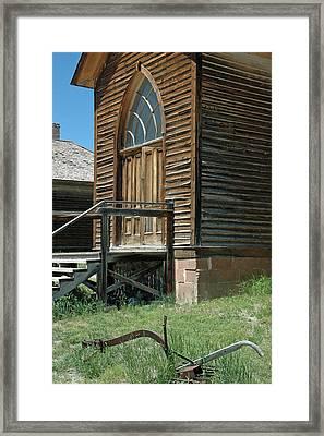 Bannack Church Framed Print by Bruce Gourley