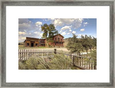 Bannack Montana Framed Print by Bob Christopher
