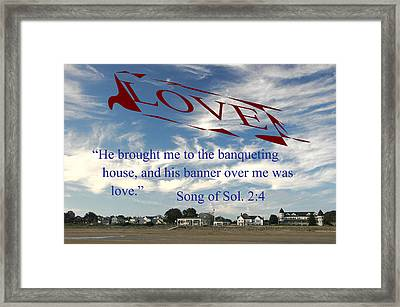 Framed Print featuring the photograph Banner Of Love by Paul Miller