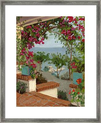 Banning House Bougainvillea Framed Print by Alice Leggett
