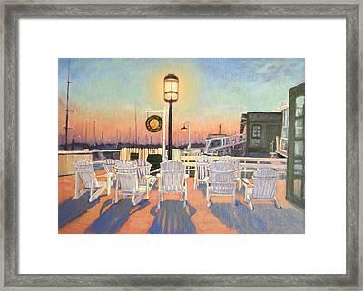 Bannister's Wharf Newport Ri Framed Print