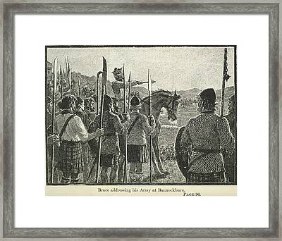 Bannockburn Framed Print by British Library