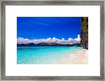 Banol Beach In Coron Philippines Framed Print by Fototrav Print