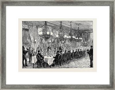 Banquet Given To The Alabama Arbitrators By The Geneva Framed Print