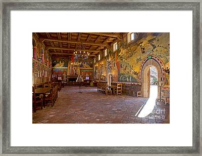 Banquet Hall Castello De Amarosa Framed Print by Craig Lovell