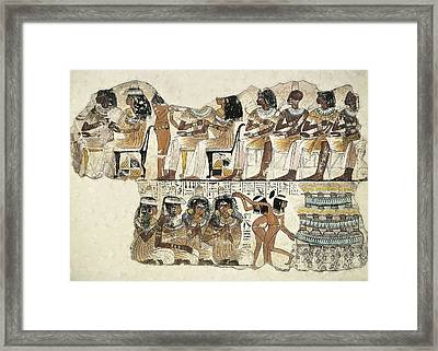Banquet Scene. Ca. 1350 Bc. 18th Framed Print by Everett