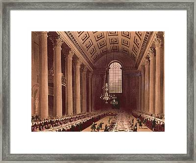 Banquet Scene In The Egyptian Hall Framed Print by Everett