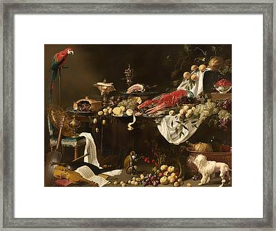 Banquet Still Life Framed Print by Mountain Dreams