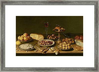 Banquet Still Life Framed Print by Jacob Foppens van Es