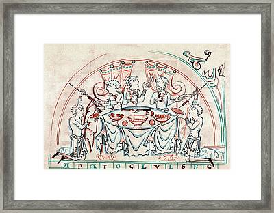 Banquet Framed Print by Universal History Archive/uig