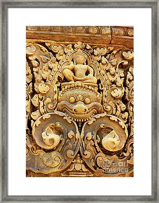 Banteay Srei Carving 01 Framed Print