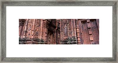 Bantreay Srei Nr Siem Reap Cambodia Framed Print by Panoramic Images