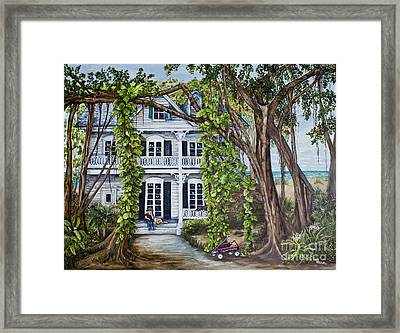 Banyan Beach House Framed Print