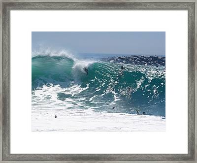 Banzai Framed Print