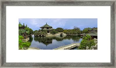 Baomo Garden Temple Framed Print by Nicola Nobile