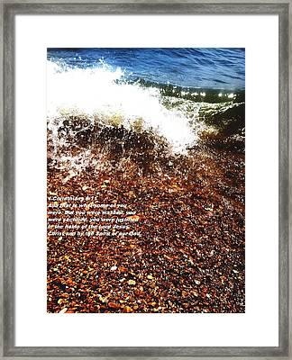 Framed Print featuring the photograph Baptism 2 by Saribelle Rodriguez