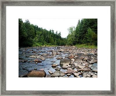 Baptism Creek Framed Print by Bridget Johnson