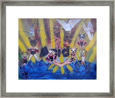 Framed Print featuring the painting Baptism In Acid by Lisa Piper
