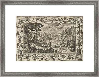 Baptism Of Christ, Adriaen Collaert, Eduwart Van Hoeswinckel Framed Print