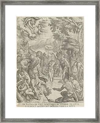 Baptism Of Christ, Egidius Horbeck Framed Print