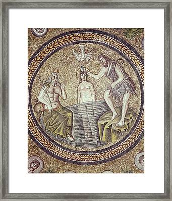 Baptism Of Christ. End 5th C. Italy Framed Print