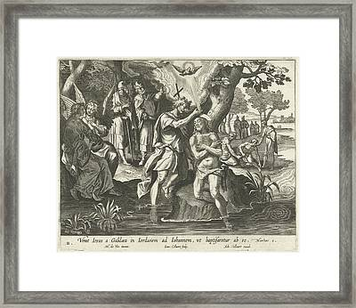 Baptism Of Christ, Jan Collaert II, Adriaen Collaert Framed Print