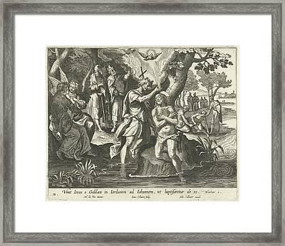 Baptism Of Christ, Jan Collaert II, Adriaen Collaert Framed Print