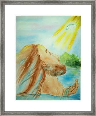 Baptism Of Christ Framed Print by Melanie Palmer