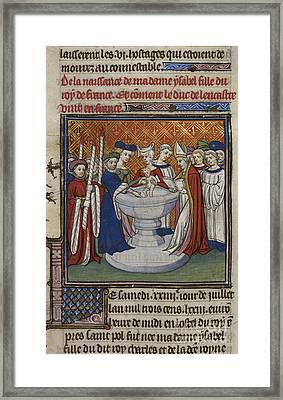 Baptism Of French King's Child Framed Print by British Library