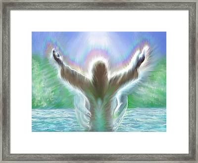Baptism Of Yshuah Framed Print