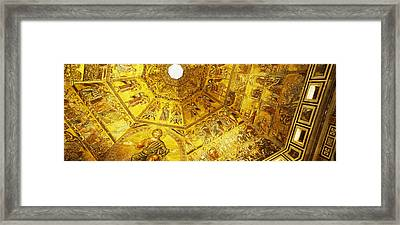 Baptistery Mosaic Ceiling, Battistero Framed Print by Panoramic Images