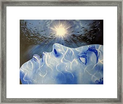 Baptized In Heaven's Ocean Framed Print