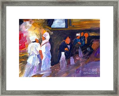 Bar And Grille Framed Print by Sandra Stone