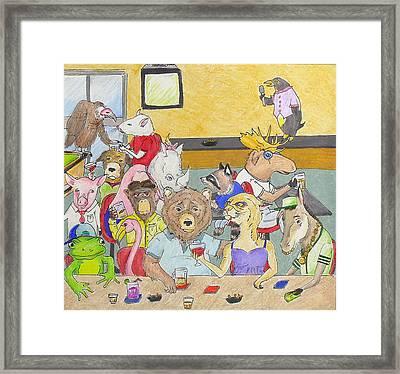 Bar Animals Framed Print