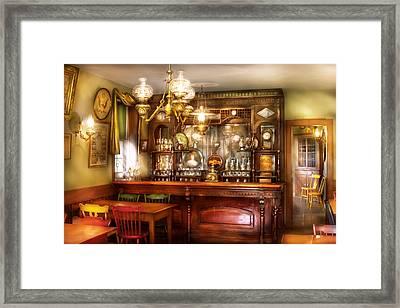 Bar - Bar And Tavern Framed Print by Mike Savad