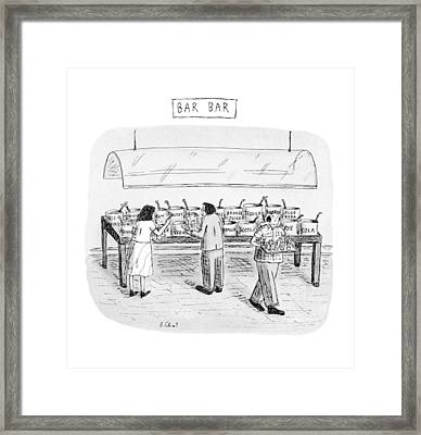 Bar Bar Framed Print by Roz Chast