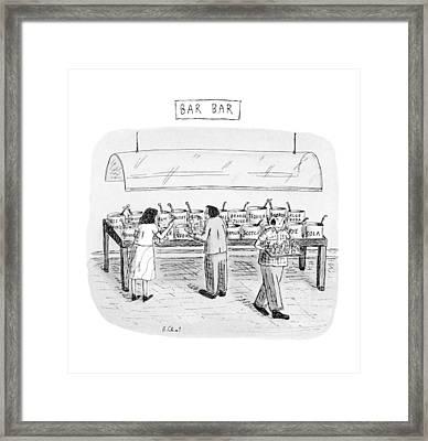 Bar Bar Framed Print
