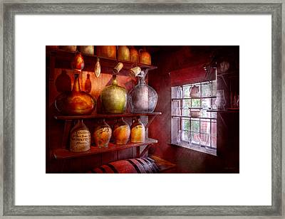 Bar - Bottles - Check Out These Big Jugs  Framed Print by Mike Savad