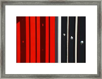 Bar Code Framed Print by Wendy Wilton