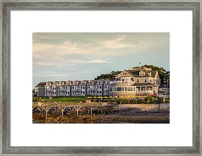 Framed Print featuring the photograph Bar Harbor Inn  by Trace Kittrell